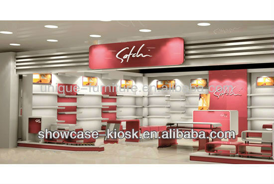Free design for mall fashion bag display showcase for sale,bag showcase store