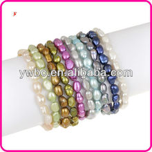 Cheap Wholesale Multi-colored FW Pearl Stretch Jewelry Bracelets