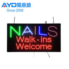 2016 Hot Sale New Design Flashing Acrylic Shop Name Business No Smoking Indoor Use LED Letter Sign Factory