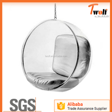 clear acrylic hanging ball plastic cheap bubble chair price / replica bubble chair TF006
