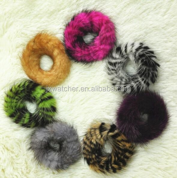 Fluffy and lovely colorful cute mink fur hairband