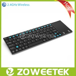 2.4GHz Ultra Slim Wireless Keyboard with Touchpad for Raspberry PI