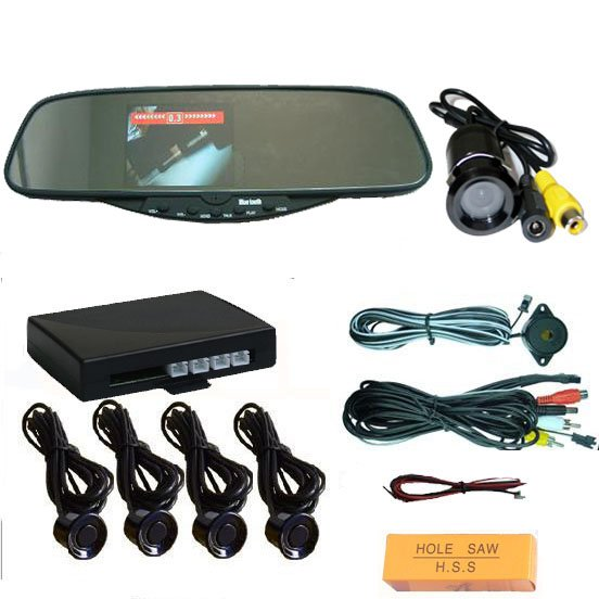 car rearview mirror phone mobile phone hands free kit and parking sensor