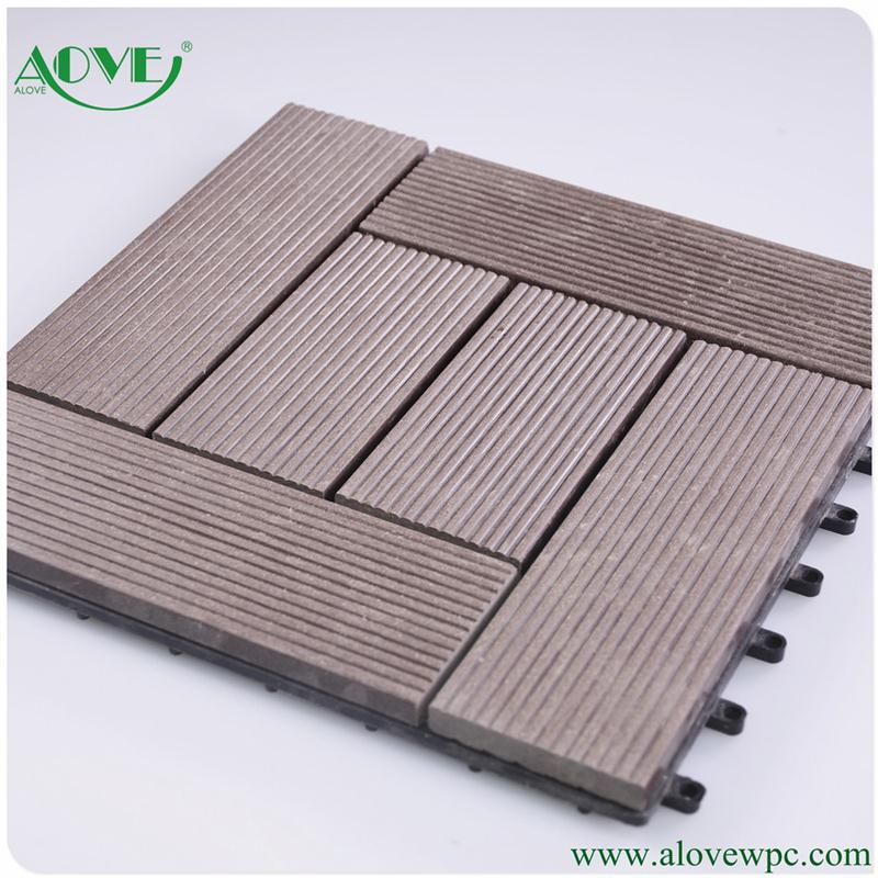 linyi high quality wpc hollow plastic wood composite flooring
