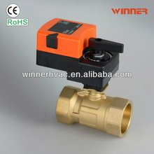 2-way DN15 fan coil uinit flow control ball valves for out side air units