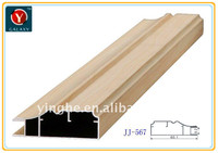 wood grain decorative aluminium cabinet door frame