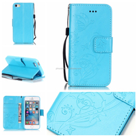 For iPhone 5 5s PU Leather +Hard Plastic Flip Smooth Plating Case for Apple iPhone5 5s Slim Full Protect Shockproof Cover