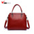 Fashion designer ladies tote shoulder bag pu leather women bag handbag