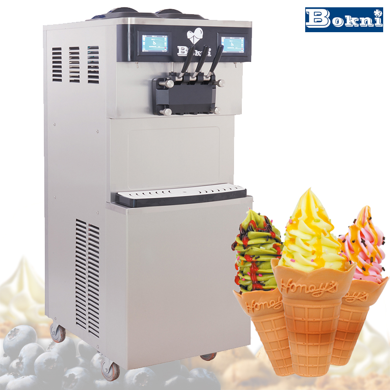 Big capacity Soft serve freezer Ice Cream Machine/Vertical frozen yogurt machine with CE approved
