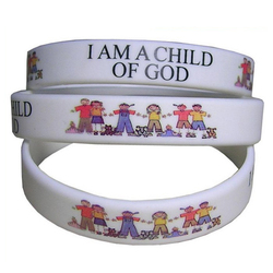 Custom pattern rubber band adjustable silicone bracelet for kids