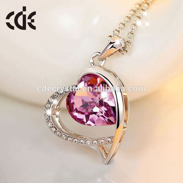 wholesale american diamond jewelry natural stone necklace Crystals from Swarovski cross necklace