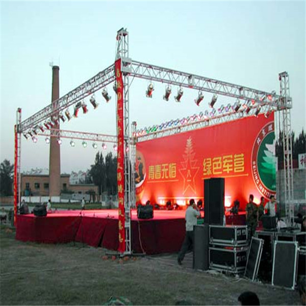 lighting screw event trade show screw aluminum spigot outdoor stage roof truss