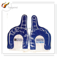 TW313-3 Eco-friendly Promotion Printed Inflatable LED Hand/PE Inflatable Hand/PE Inflatable Glove