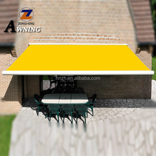 Economic outdoor folding arm manual full cassette retractable awning