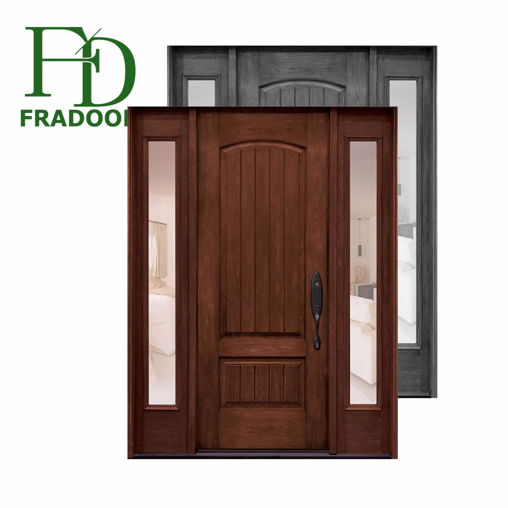 Special Style Tempered Glass Insert Used Wooden French Door