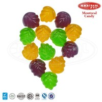 Maple shape sweets halal gummy candy
