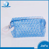 Fashion Beautiful Transparent Clear PVC Cosmetic Bag With Zipper Closure