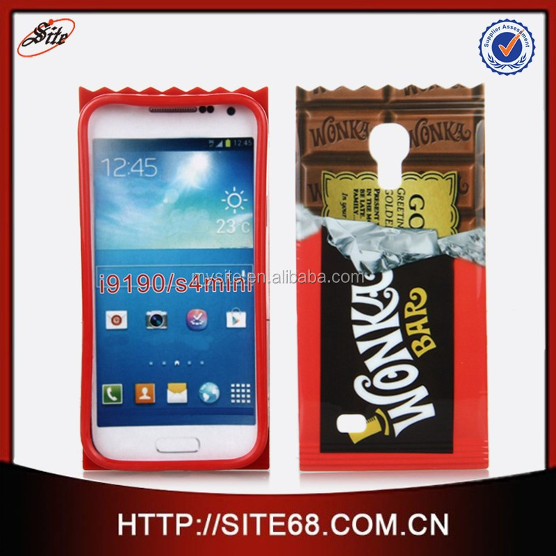 OEM design Special Sweet Chocholate Pattern TPU cell phone protective case cover for samsung S4 mini case