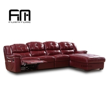 Fashion New design rocking recliner sectional sofa corner leather furniture