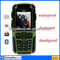 A81 Waterproof Dustproof Shockproof cell phone 2.0 inch Dual SIM Cell Phone FM Bluetooth