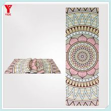 New design bohemian style Rubber Base yoga mat machine washable