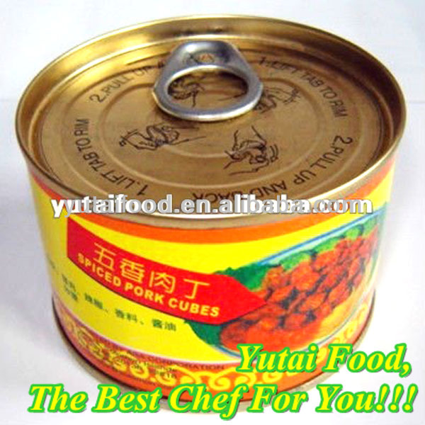 Hot Sale Chinese Canned Food Canned Spiced Pork Cubes