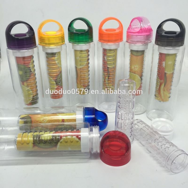 KA023 Low Cost Tritan Fruit Infuser Water Bottle with Fruit Infusion BPA Free