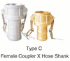 Camlock QUICK COUPLINGS TYPE C3/4'' aluminum pipe coupling joint