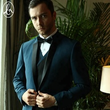 Guangzhou Latest OEM blue slim fit suits for men