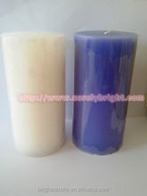 smooth surface white pillar candles