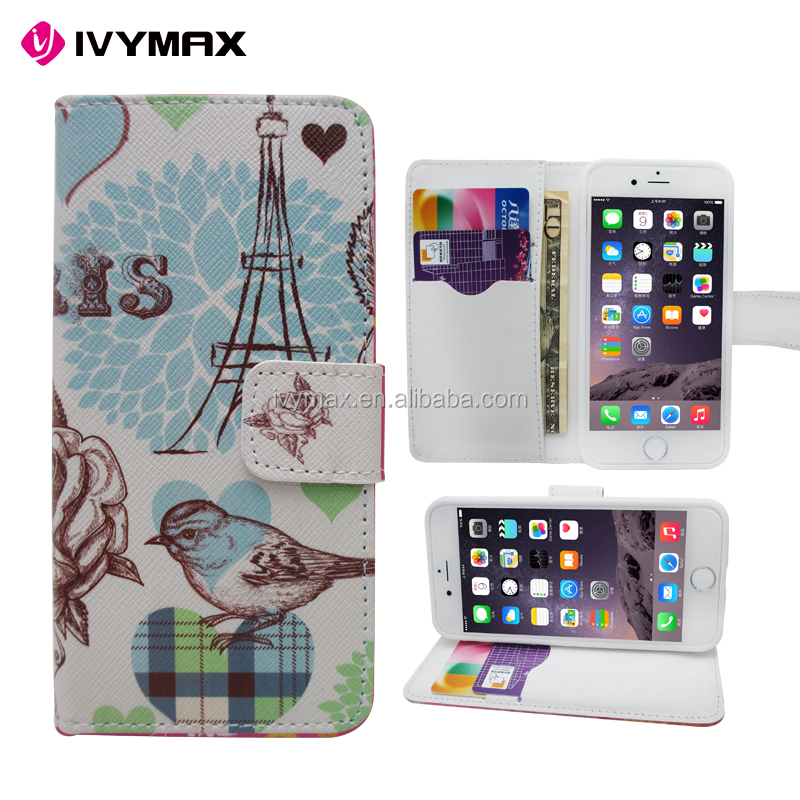 Factory wholesale wallet case accesorios para celulares for apple iphone 6