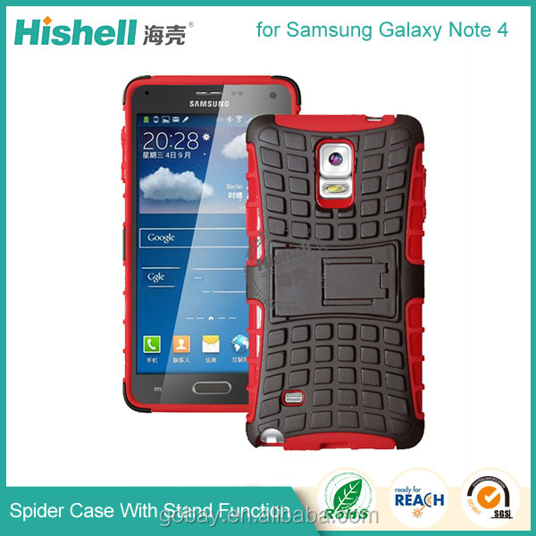 3 in 1 belt flip cover for samsung note 4 with hard kickstand