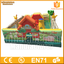 8x8 mts kids giant inflatable amusement park made of lead free pvc tarpaulin from China factroy