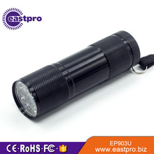 395 nM,9 led uv flashlight