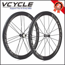 2018 700c 50mm Depth 23mm Width Clincher Carbon Bike Wheel Set