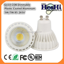 5W GU10 COB LED Spotlight Bulb Aluminum Body Material Daylight Halogen Bulb Replacement