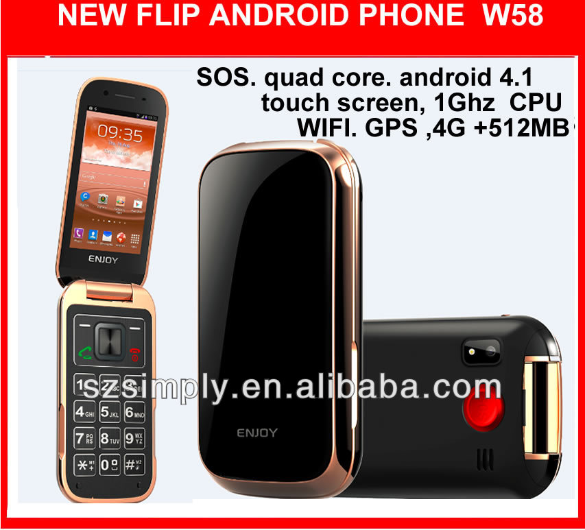 "3g 3.2"" dual core city call android phone 4.1 W58"