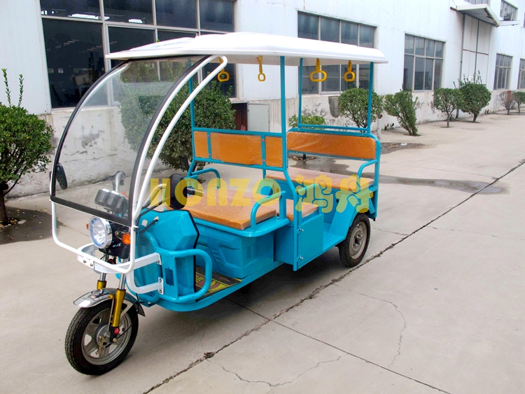 Electric passenger three wheel tricycle in Keke