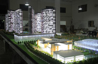 1/100 scale model builder in 2014 DUBAI housing exhibition