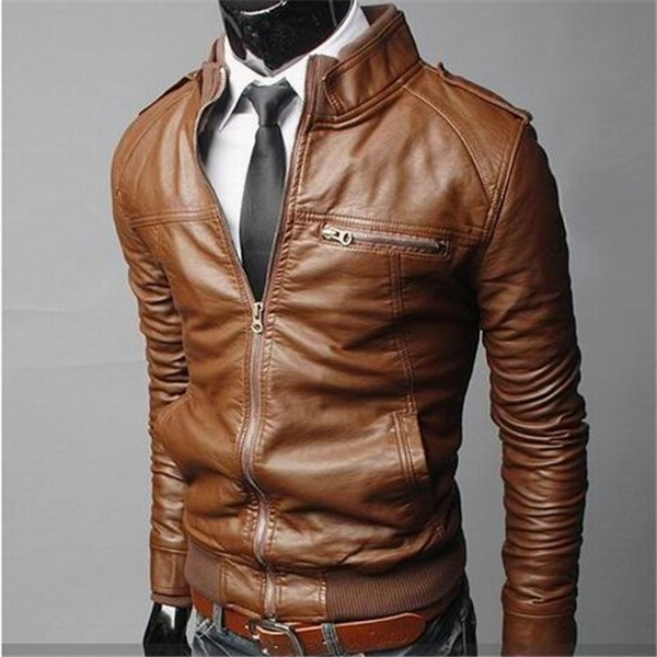 2016 autumn men jacket leather jackets winter clothing