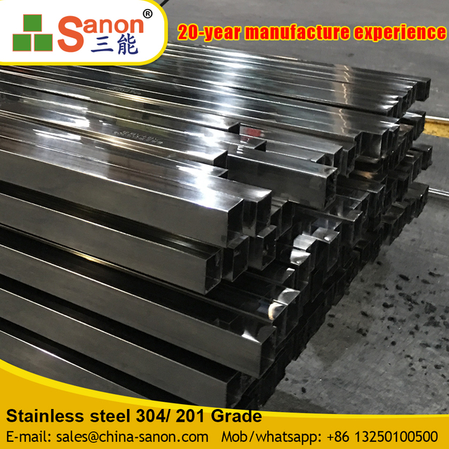 China Manufacturers Square Welded Stainless Steel Pipe 20FT