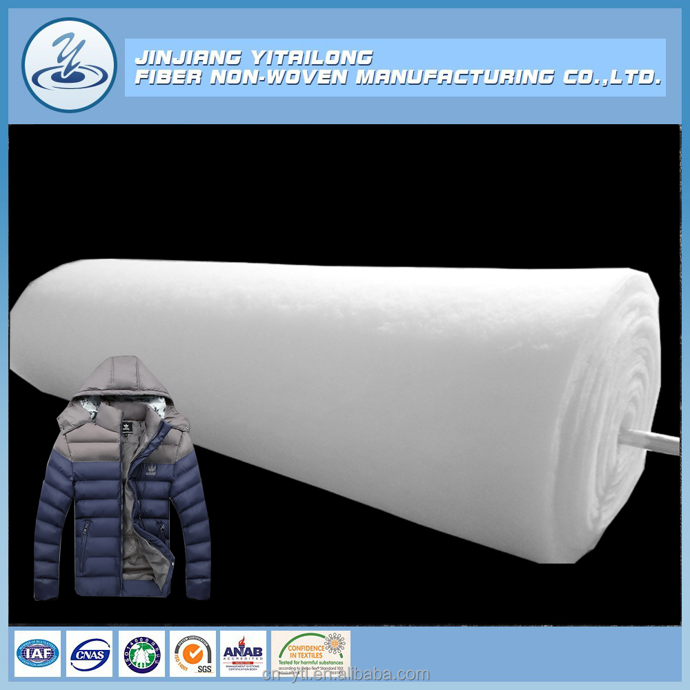 Supply Good Quality White Color Polyester Wadding Quilting Batting By The Roll