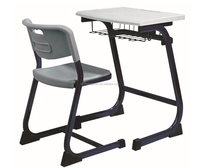 School furniture hot sale classroom study table and chair metal frame