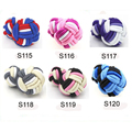 Multicolor elastic silk knot cufflinks handmake fabric knot cufflinks suit for shirt