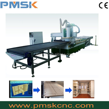 Full automatic panel furniture production line,auto feeding used cnc milling machine