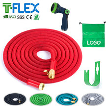 Magic expandable latex flexible elastic shrinking garden hose for America 50ft anaconda blue expandable water garden hose w