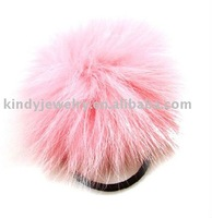 fur ball shape hair bands hair ornaments accessory jewelry