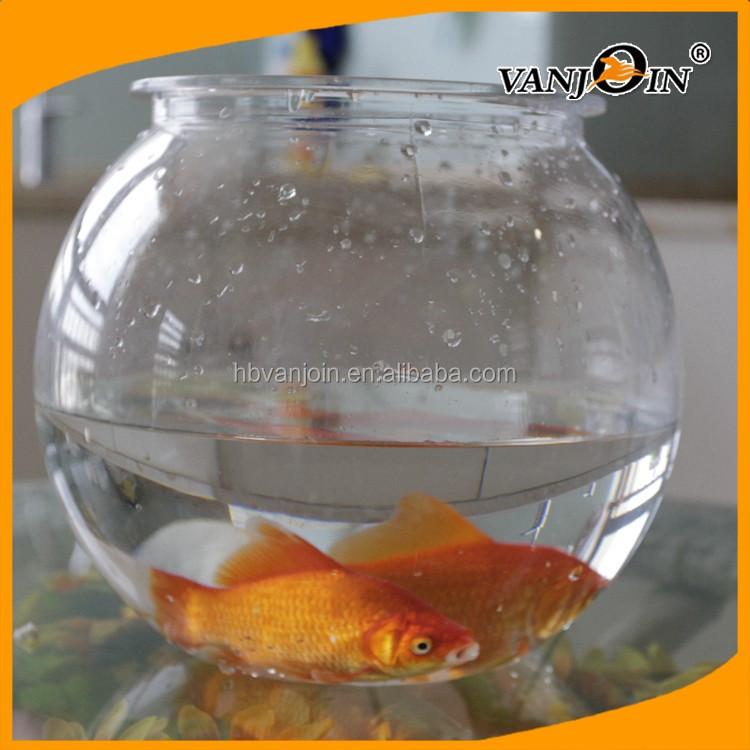 15r pet plastic bowl round 1 5 gallon betta fish aquariums for Small plastic fish bowls