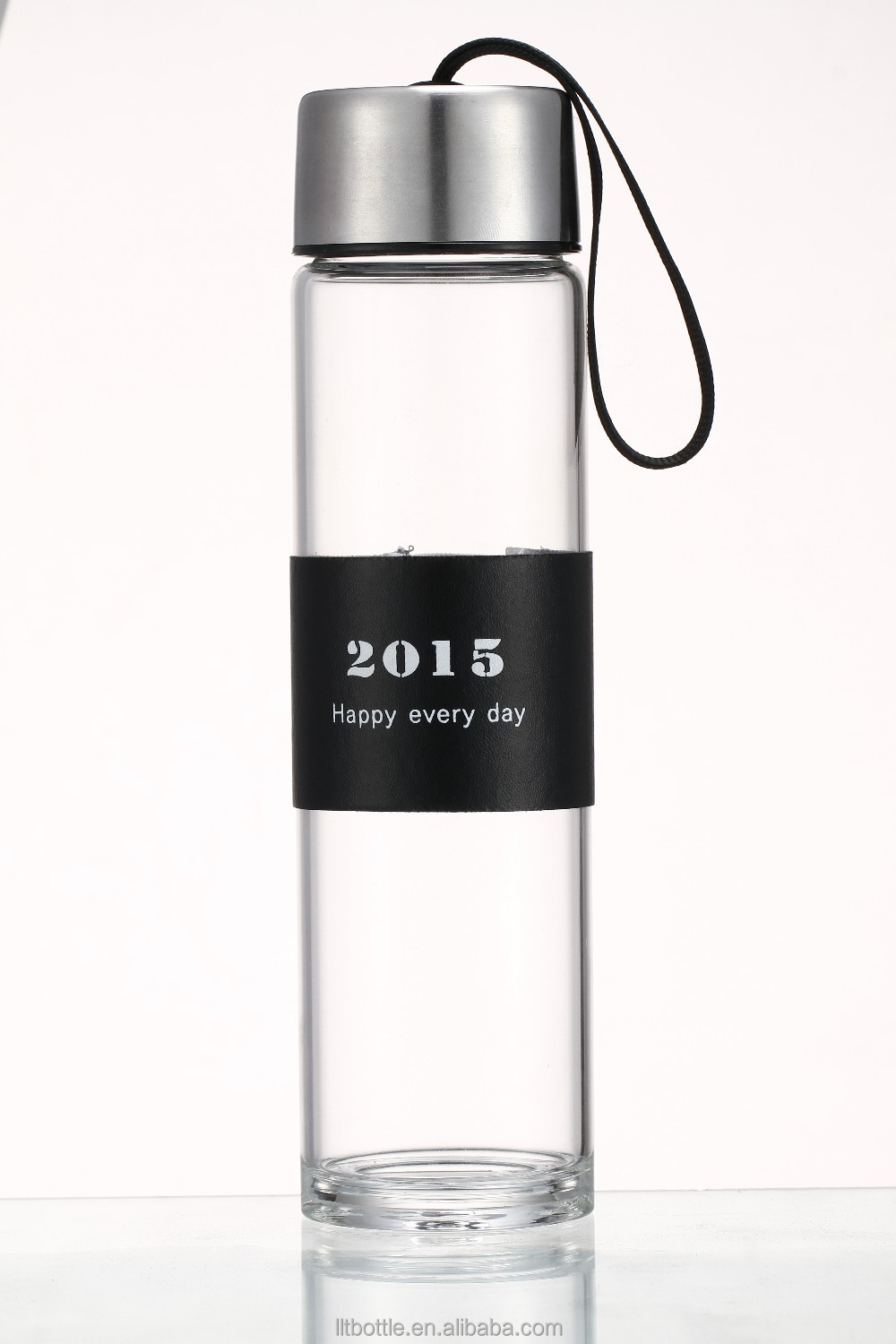 glass bottle usb flash stick custom water bottle With Compartment
