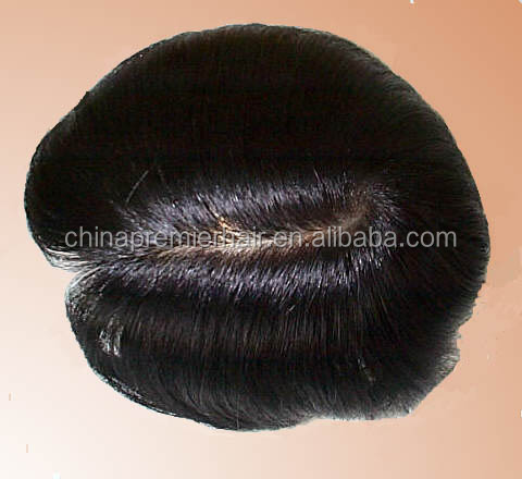 custom toupee silk top hair system 100% indian remy human hair men hair toupee